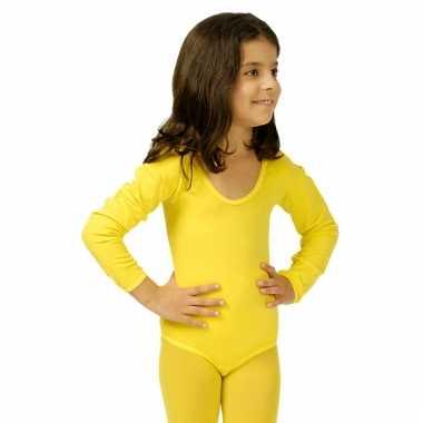 Gele kinderbody morphsuit kopen