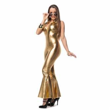 Gouden disco morphsuit dames kopen