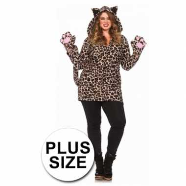 Leg Avenue luipaard morphsuit grote maat kopen