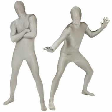 Morphsuit zilverkleurig kopen