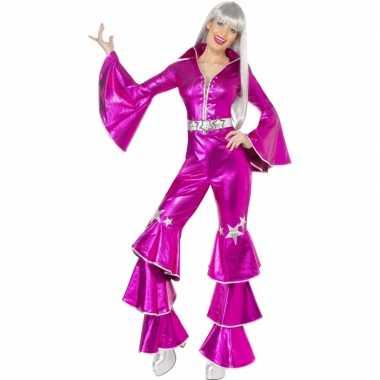 Seventies disco morphsuit roze kopen