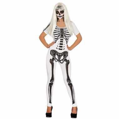Skelet wit dames morphsuit kopen