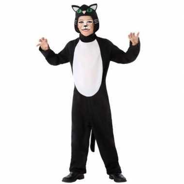Zwarte kat/poes morphsuit kinderen kopen