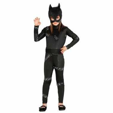 Zwarte katten morphsuit / morphsuit meisjes kopen